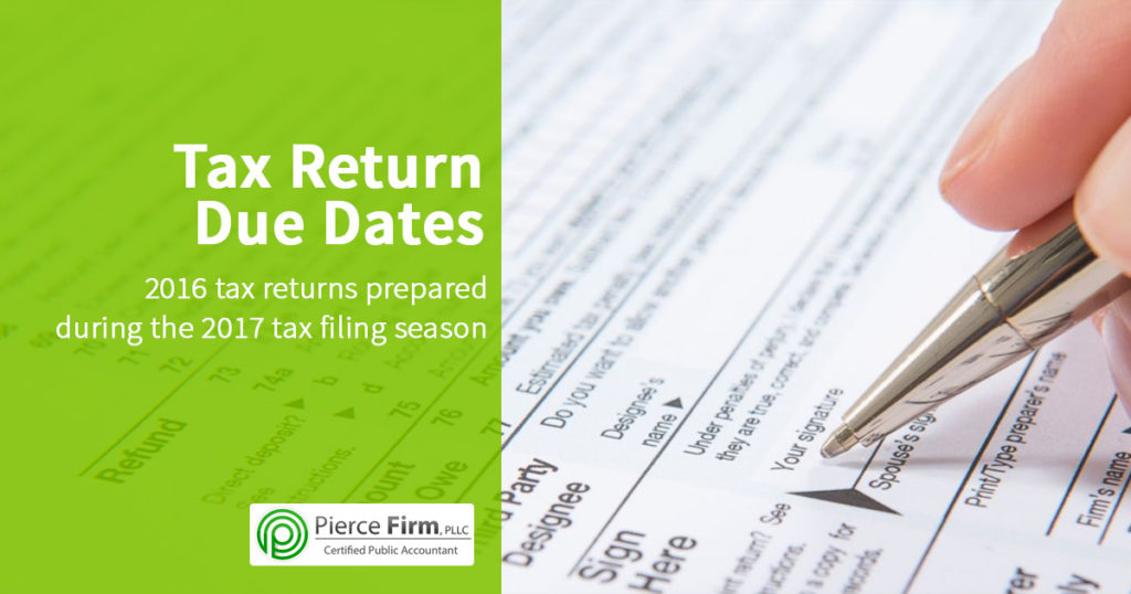 Tax return due date